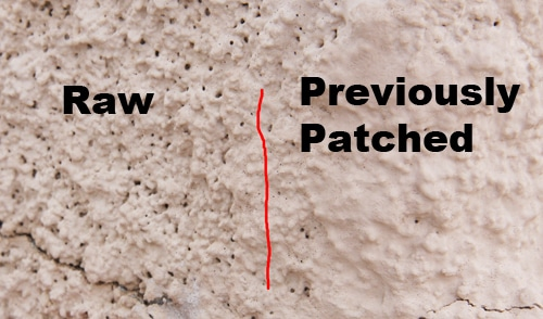 AABrite 24/7 Stucco Repair Raw vs Patched
